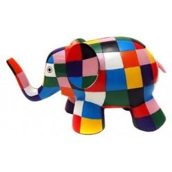 TIRELIRE PLASTIQUE ELMER ELEPHANT MULTICOLORE
