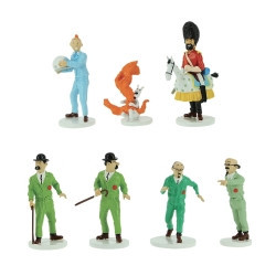 SET DE FIGURINES TINTIN LUNE