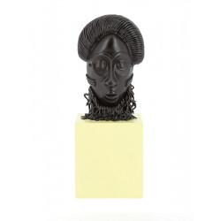 MASQUE AFRICAIN MUSEE IMAGINAIRE FIGURINE RESINE 25CM