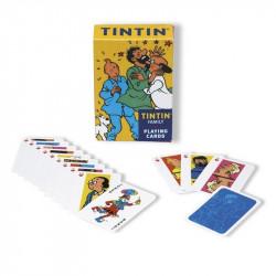 CARTES A JOUER LA FAMILLE DE TINTIN