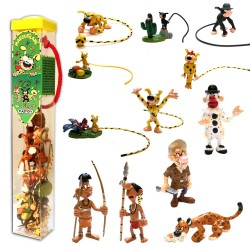TUBE 12 FIGURINES PLASTIQUE MARSUPILAMI