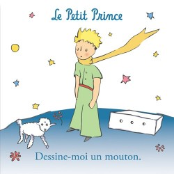 MAGNET CARRE PETIT PRINCE CITATION DESSINE MOI UN MOUTON
