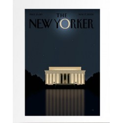 AFFICHE THE NEW YORKER AVEC PASSE PARTOUT VISUEL SEMPE BUSINESS 30X40CM