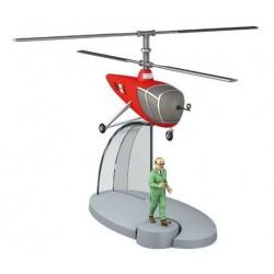 AVION TINTIN N30 HELICOPTERE ROUGE BH15 DE LA BASE DE SBRODJ AVEC FRANK WOLFF OBJECTIF LUNE 29550