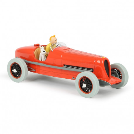 TINTIN VOITURE 124e -  BOLIDE ROUGE