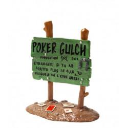 PANNEAU LUCKY LUKE  POKER GULCH  REF 6500