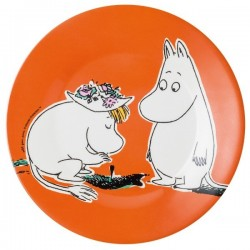 ASSIETTE DESSERT MOOMIN FOND ORANGE