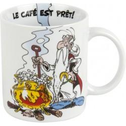 MUG PORCELAINE ASTERIX ET OBELIX PANORAMIX ET LE CAFE MAGIQUE