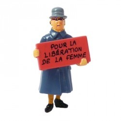 FIGURINE PLOMB IRMA SERIE CARTE DE VOEUX TINTIN 46995