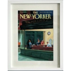AFFICHE THE NEW YORKER AVEC PASSE PARTOUT VISUEL SMITH BAR 30X40 CM