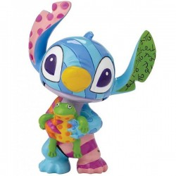 MINI FIGURINE RESINE STITCH ET LA GRENOUILLE BRITTO DISNEY