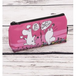 TROUSSE MOOMIN ROSE TISSU FORME TRIANGULAIRE