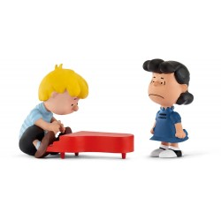 PACK 2 FIGURINES SNOOPY SCHROEDER AU PIANO ET LUCY PEANUTS