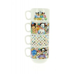 LOT DE 4 TASSES CERAMIQUE DISNEY TSUM TSUM EMPILABLES