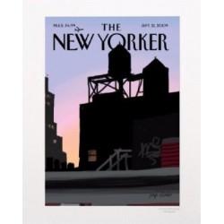 AFFICHE THE NEW YORKER VISUEL N20 PAR COLOMBO TOITS 40X50CM AVEC PASSE PARTOUT