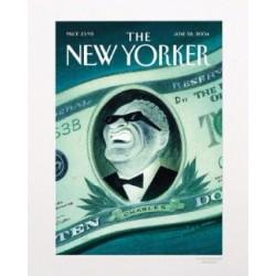 AFFICHE THE NEW YORKER AVEC PASSE PARTOUT VISUEL RAY CHARLES N49 PALMA 30X40 CM