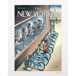 AFFICHE THE NEW YORKER VISUEL N54 PAR HALL VELO 40X50CM AVEC PASSE PARTOUT