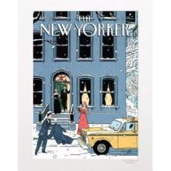 AFFICHE THE NEW YORKER VISUEL N11 PAR FLOCH NOEL 30X40CM AVEC PASSE PARTOUT