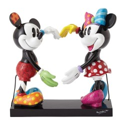 FIGURINE RESINE MICKEY MOUSE ET MINNIE 15CM COLLECTION BRITTO DISNEY