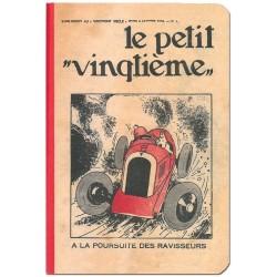 CARNET DE NOTES TINTIN LE PETIT VINGTIEME 85X125 MM VISUEL BOLIDE