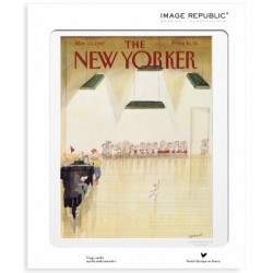 AFFICHE THE NEW YORKER AVEC PASSE PARTOUT VISUEL SEMPE AUDITION 30X40 CM