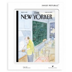 AFFICHE THE NEW YORKER AVEC PASSE PARTOUT VISUEL 70 SEMPE SIMPLE PHYSICS 30X40 CM