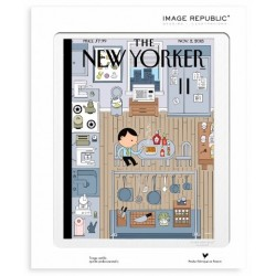 AFFICHE THE NEW YORKER AVEC PASSE PARTOUT VISUEL N79 BRUNETTI COMFORT FOOD 30X40 CM