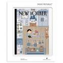 AFFICHE THE NEW YORKER AVEC PASSE PARTOUT VISUEL N79 BRUNETTI COMFORT FOOD 30X40 CM