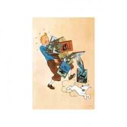 POSTER TINTIN TENANT LES ALBUMS 40X60CM 23003
