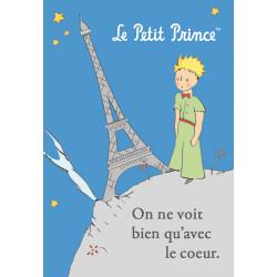 MAGNET LE PETIT PRINCE A PARIS ON NE VOIT BIEN QU AVEC LE COEUR