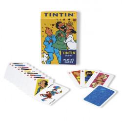 CARTES A JOUER ILLUSTRATION LA FAMILLE DE TINTIN 51035