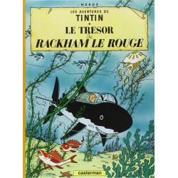 TINTIN PETIT FORMAT COULEURS T12 LE TRESOR DE RACKHAM LE ROUGE
