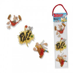 SET DE 3 MINI MAGNETS ASTERIX ET LE ROMAIN PAF