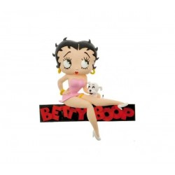 MAGNET BETTY BOOP ASSISE SUR SON LOGO