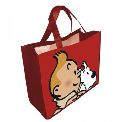 SAC CABAS TINTIN ROUGE SEMI IMPERMEABLE 04227