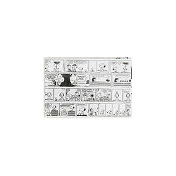 MAGNET SNOOPY ET LES PEANUTS FOND BLANC SNOOPY VERSION COMIC STRIP