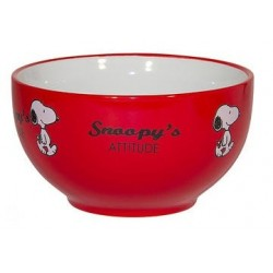 BOL SNOOPY ET LES PEANUTS FOND ROUGE INTERIEUR BLANC SNOOPY ATTITUDE